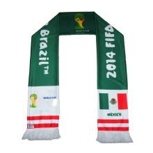 Fußball-Fan-Schal-Polyester-Schal des Fußball-2014