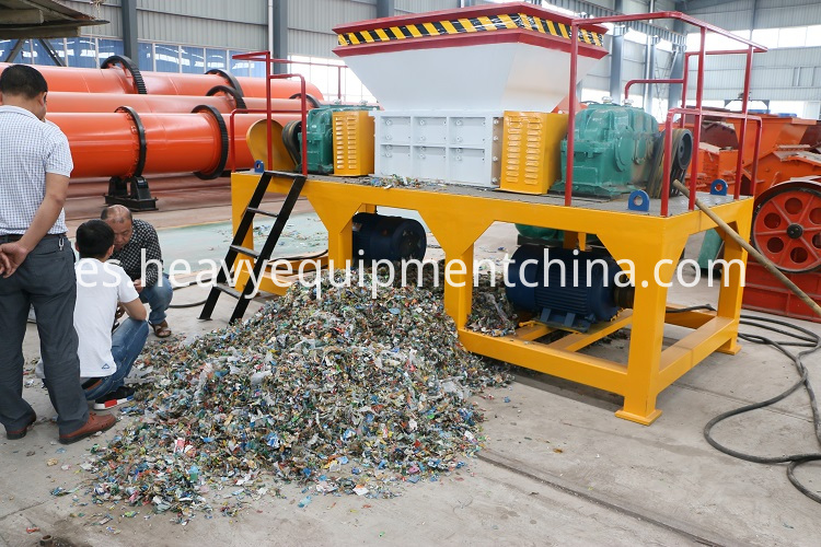 Double Shaft Compost Copper Wire Cable Carton Shredder