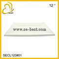 """12"""" MELAMINE SERVING TRAY; PURE WHITE PLATE"""