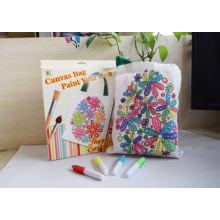 la bolsa de mensajero blanca de la lona de los niños de la pintura de algodón de los niños