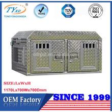 caja directa del perro del camión de la placa del diamante del metal del fabricante