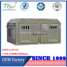 fabricant directe plaque de diamant en métal camion boîte de chien