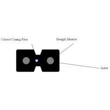 Cable de fibra óptica de baja fricción