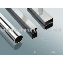 Brilhante acabado tubo de aço quadrado / tubo BA tubo polido indústria alimentar inoxidável