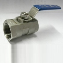 Válvula esférica flutuante de porta de redução CF8m de uma peça