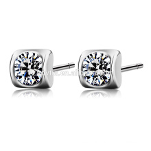 2016 Best selling products genuine pure 925 sterling silver zircon stud earring