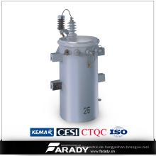 11kv 25kVA Öl Immenser Overhead Typ Einphasige Energieverteilung Csp Transformer Preis