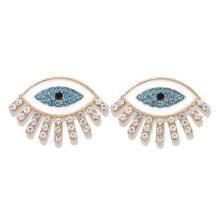 Wholesale Turkish Eyes Stud Earring Colorized CZ Women Enamel Stud Earring