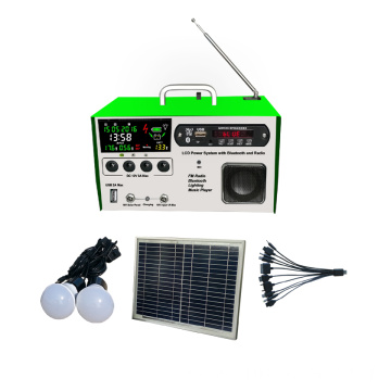10w Lcd portable Solar Light Kits