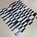 chinese supplier Strip mixed black and white Glazed crystal glass mosaic tile