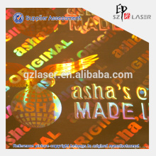 Goldfolie Hologrammband für Kastenverpackung