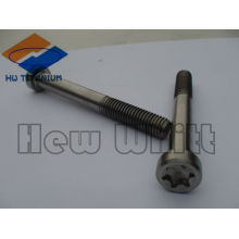 High strength GR5 titanium m6 screw torx head