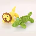 lombo de pelúcia de veludo cotelê e brinquedo de crocodilo para animais de estimação