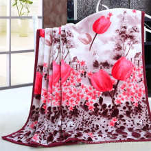 Single/doule ply printed flannel blanket wholesale