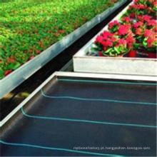 Agricultura tratada UV de 4%, rolo não tecido da tela do controle de ervas daninhas. Esteira de ervas daninhas, tecido de paisagem