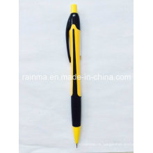 Plastic Propelling Bleistift mit 2 Farbe Schwarz und Gelb des Fasses