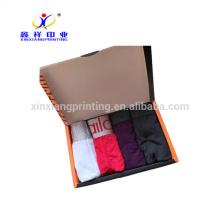Couleurs adaptées aux besoins du client! Boîtes pliantes de boîte d'emballage de papier de sous-vêtements des hommes noirs
