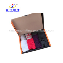 Customized colors!Black Men's Underwear Paper Packing Box Folding Boxes