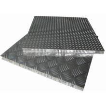 Противоскользящие алюминиевые сотовые панели для этажа