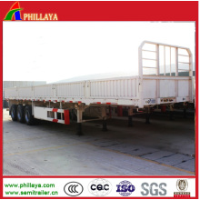 High Side Wall Cargo Bulk Trailer with Platform Loading Deck