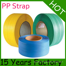 9mm et la Chine a produit la bande d'emballage de pp / bande de courroie de pp