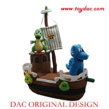 Plüsch Piraten Schiff Spielzeug