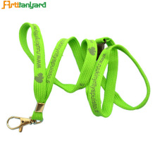 Green Color Polyester Tubular Lanyard