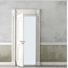 Weiße Farbe Klassische Design Solide Holztür