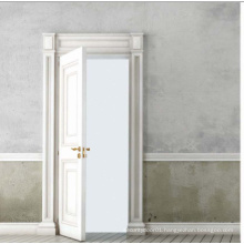 White Colour Classical Design Solid Wooden Door