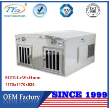 diamond plate aluminum hunting dog box for truck