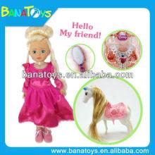 14 pouces de beaux petits jouets en plastique à cheval pour les filles