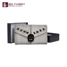 HEC China Supplier Luxury Design Carteras de viaje Clutch Purse Mujeres