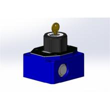 High pressure valve flow control valve