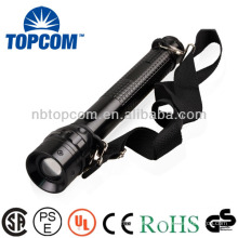 aluminum zoom torch high power cree led flashlight with compass TP-1849