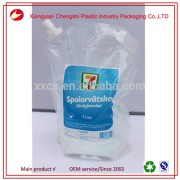 New product 5 litres flat clear plastic pouch for liquids