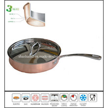 3 Ply Copper Fry Pan