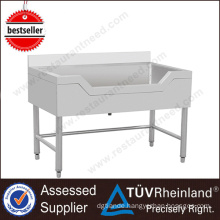 Movable Restaurant Chinese Deep Stainless Steel Sink Table