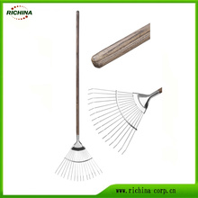 Long Handle Stainless Steel Lawn Rake