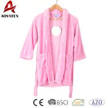 Детский халат розовый фланель флис мягкий банный халат младенца