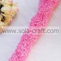 3+8MM Dark Pink Imitation Pearl String Beaded Garland