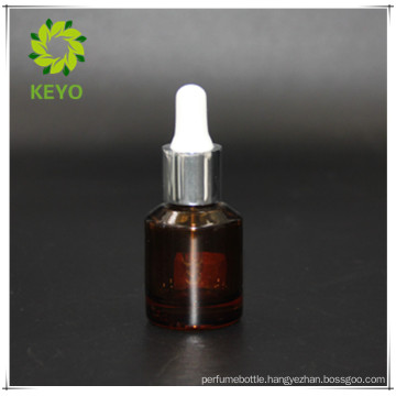15ml amber beard oil essential oil cosmetic glass dropper bottle