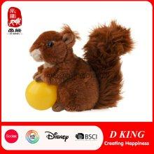 Custom Jungle Animal Toy Plush Stuffed Squirrel Soft Toy