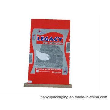 Papiersack mit genähten Unterseite für das Verpacken des Tierfutters oder des Puders