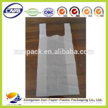 custom special design logo HDPE PE T-shirt plastic bags for suppermarket