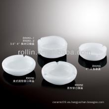 Cenicero sano durable de la porcelana del forraje blanco durable