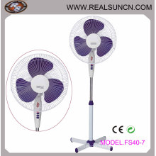 16 Inch Stand Fan with X Cross Base LED Indicator Light
