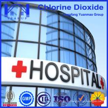 Químicos de polvo de dióxido de cloro utilizados en el hospital para la limpieza