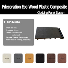 Decking composto plástico de madeira do Decking do painel de parede WPC de WPC