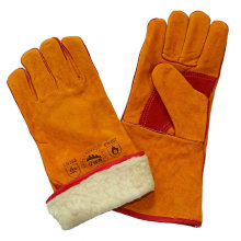 Leder Schweißen Handschuhe mit Boa Full Futter