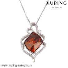 43089 moda elegante cristais de swarovski ródio imitação de jóias colar de pingente
